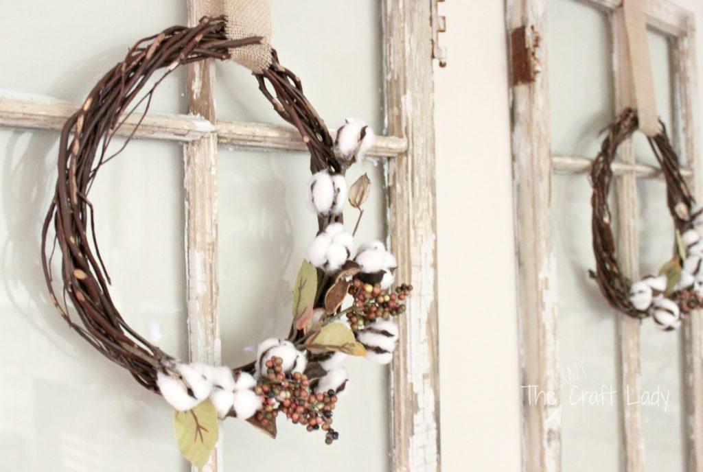 how to make a DIY cotton wreath