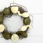make a simple dollar store fall wreath