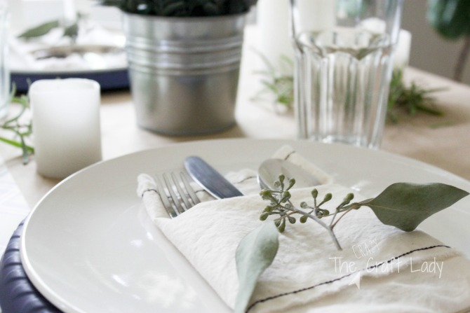DIY Fabric Napkins - a tutorial from The Crazy Craft Lady