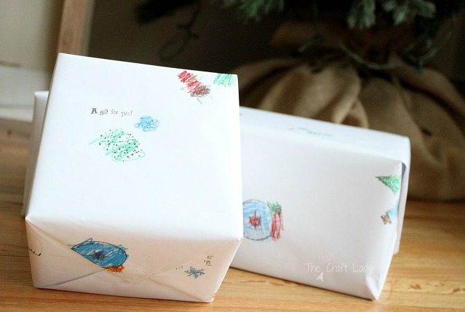 DIY Kids' Artwork Custom Gift Wrap