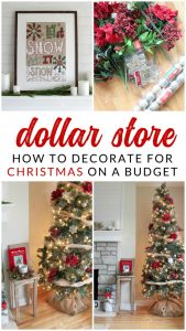 How to decorate a tree for under $20 using dollar store Christmas decorations. You won't believe how easy it is to make a beautiful tree on a small budget. Inexpensive Christmas decorating ideas.