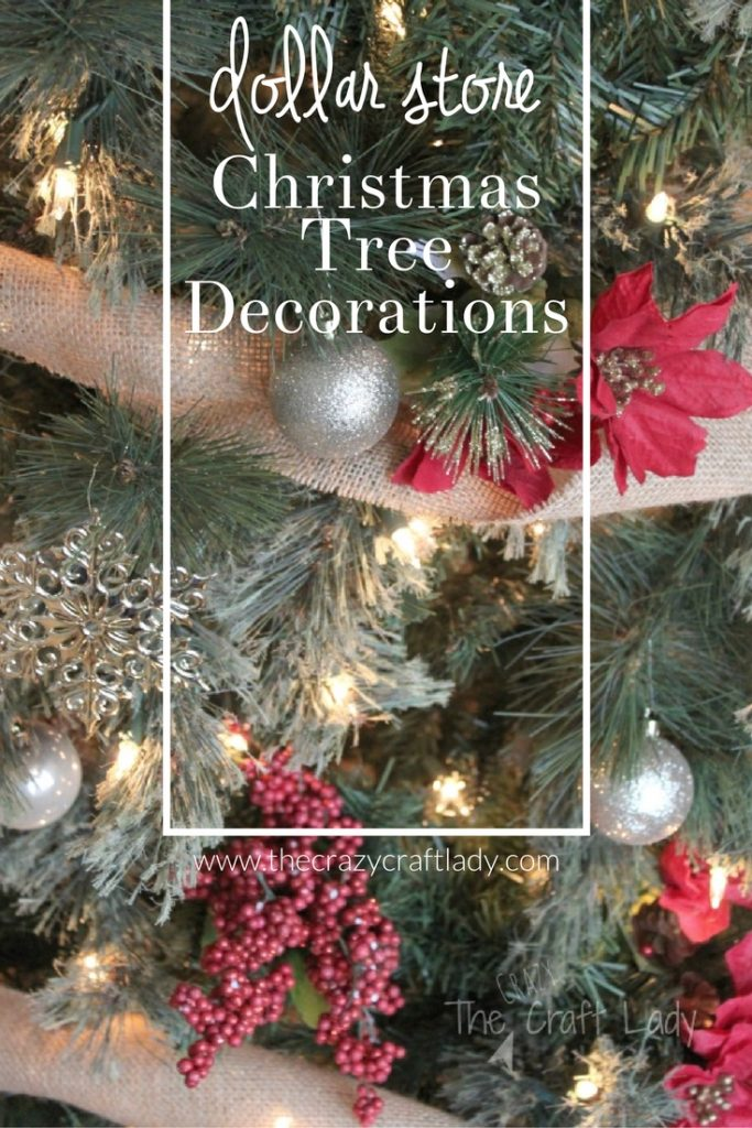 Dollar Store Chritsmas Decorations - how to decorate a tree for under $20