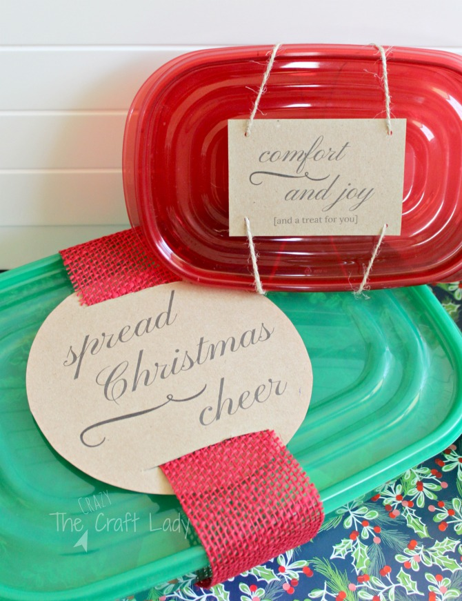Free Christmas Treat Container Labels - perfect for holiday baking and homemade gifts