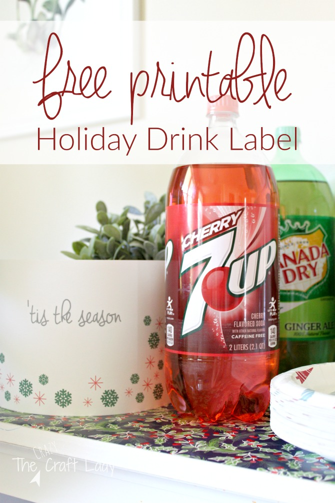 Free printable soda bottle wrappers for easy holiday entertaining