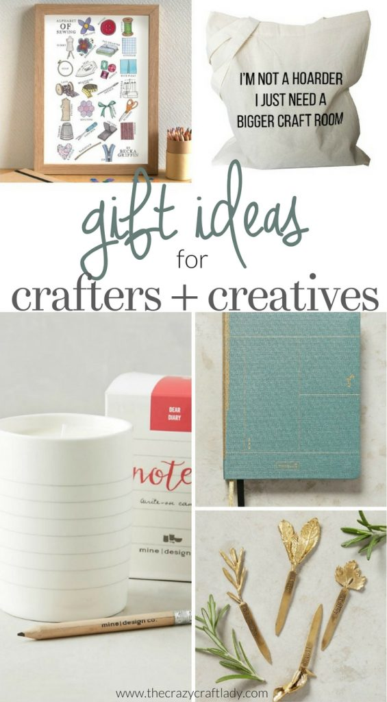 Gift Ideas for Crafty and Creative People - a gift guide from The Crazy Craft Lady