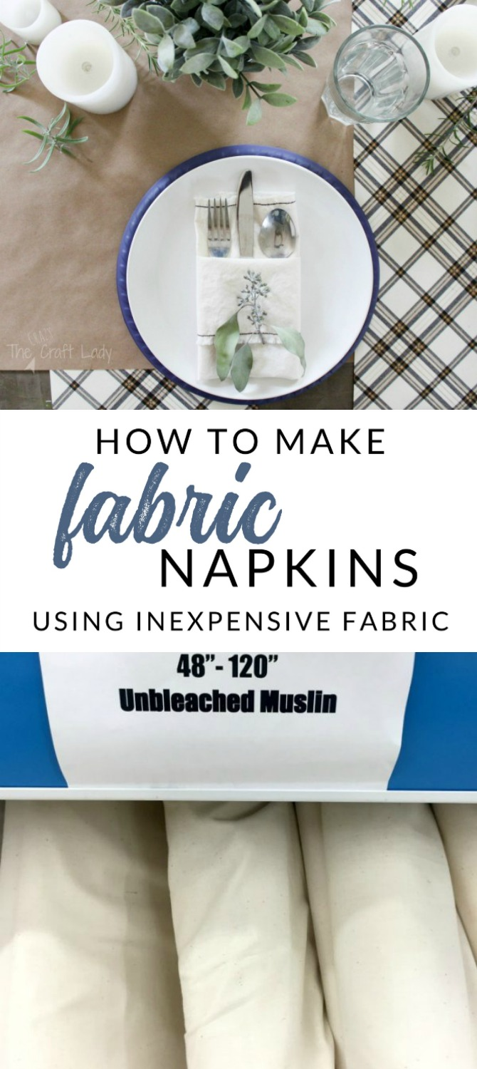 Easy tutorial: learn how to sew DIY fabric napkins from just one yard of inexpensive fabric. A simple sewing project for the home.