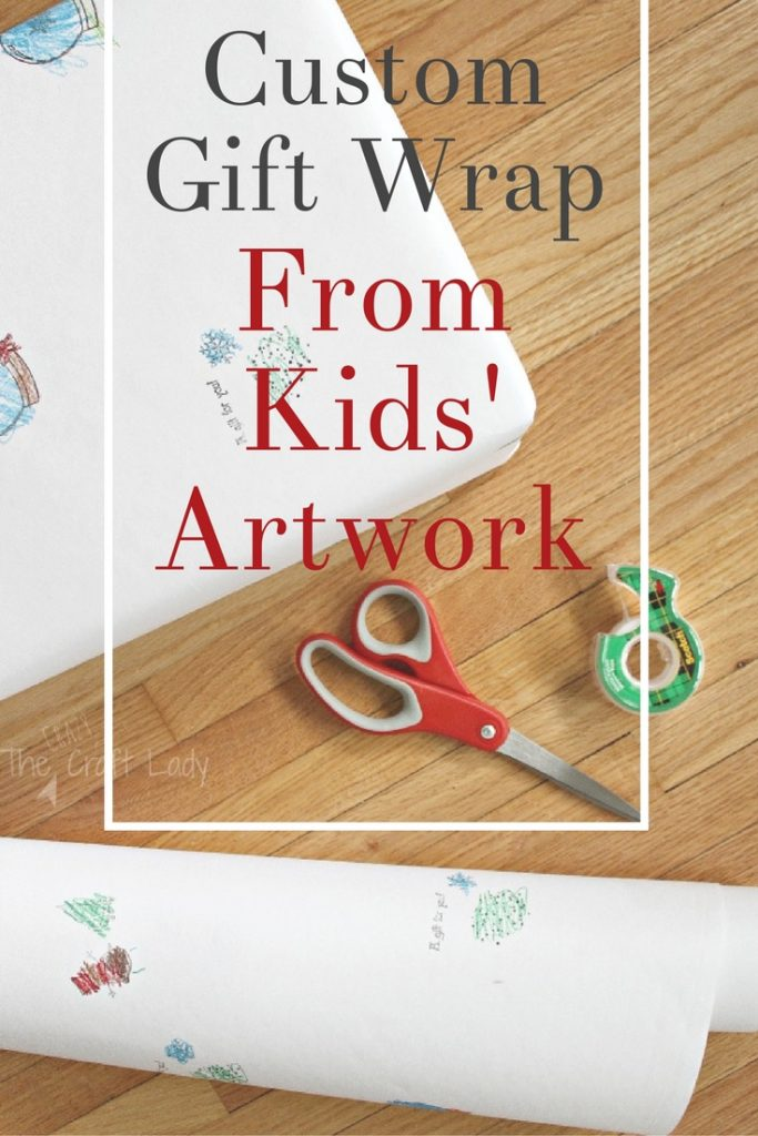 How to make custom gift wrap from your child's artwork - perfect for holiday gift giving for family