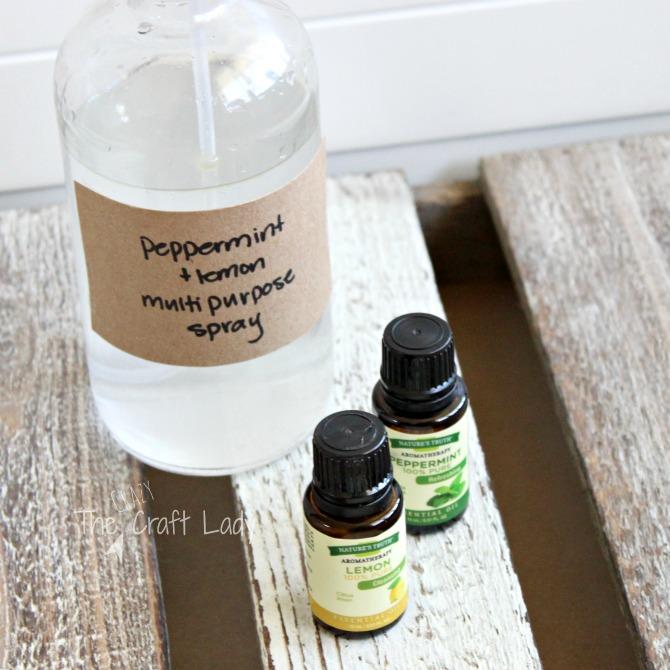 lemon peppermint cleaner multipurpose spray the crazy craft lady. Black Bedroom Furniture Sets. Home Design Ideas