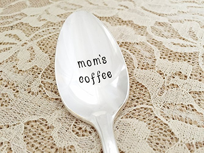 Mom's Coffee Engraved Spoon