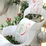 christmas countdown - free printable paper chain template