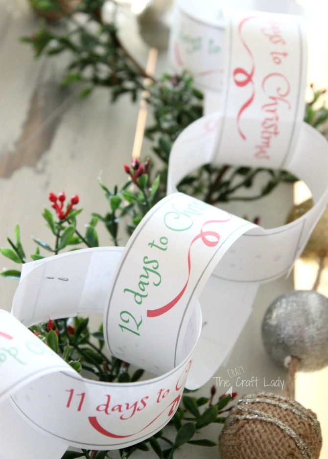 christmas countdown free printable paper chain template the crazy
