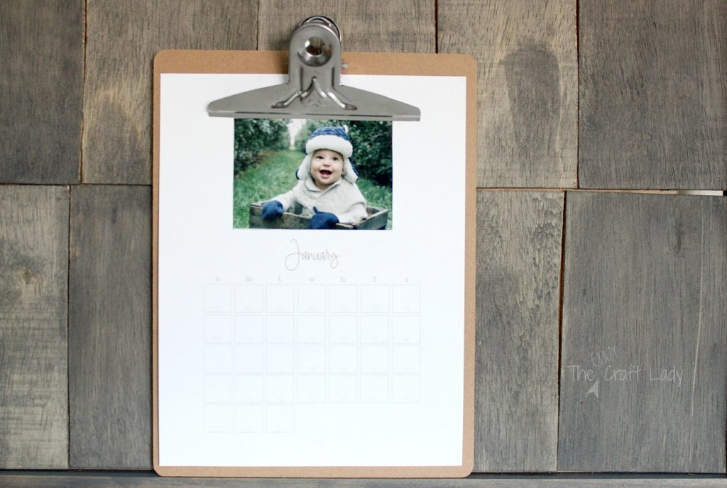 A Free Printable 2017 Custom Photo Calendar