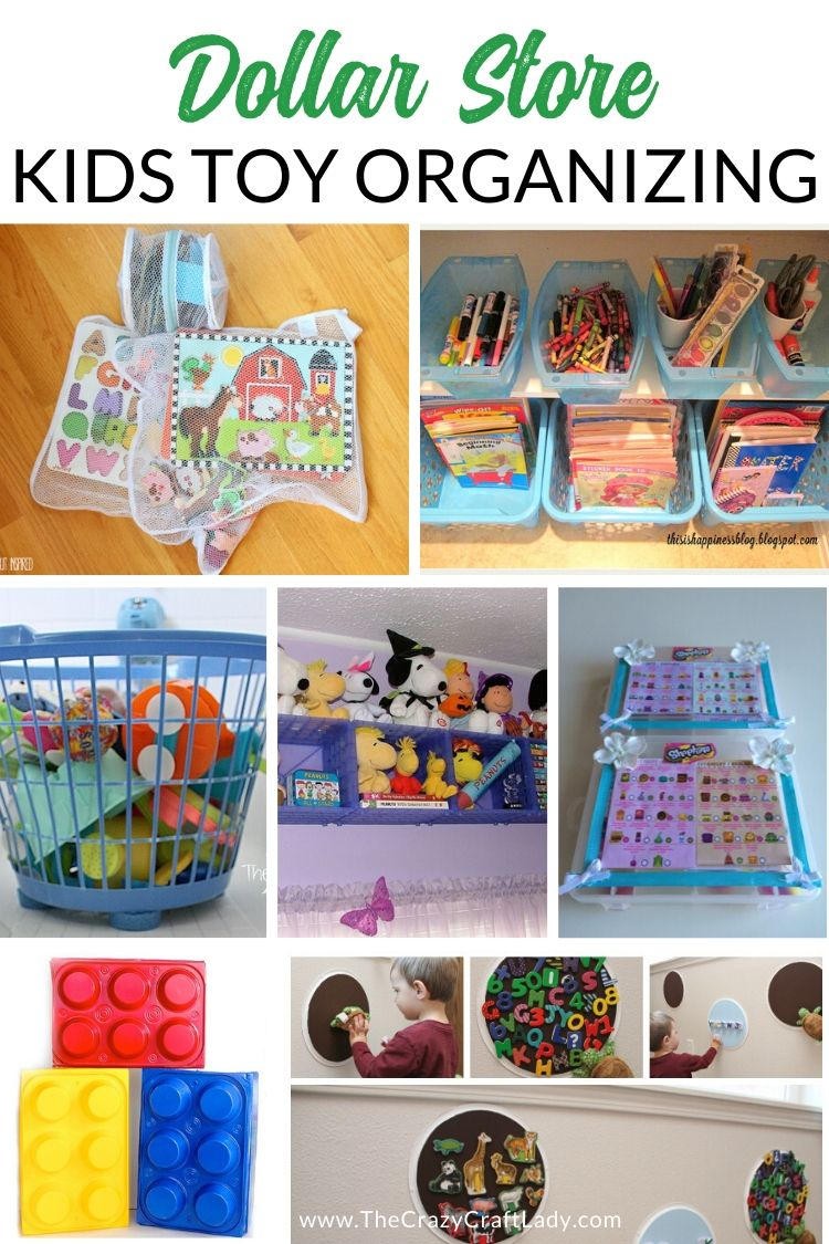 Dollar Store Kids Toy Organizing - Keep the kids toys and playrooms organized with these genius dollar store organizing solutions and hacks