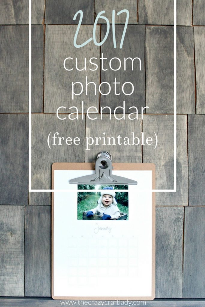 Free Printable 2017 Custom Photo Calendar