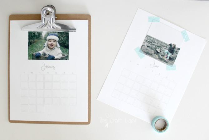 Free Printable Custom Photo Calendar - 2 ways