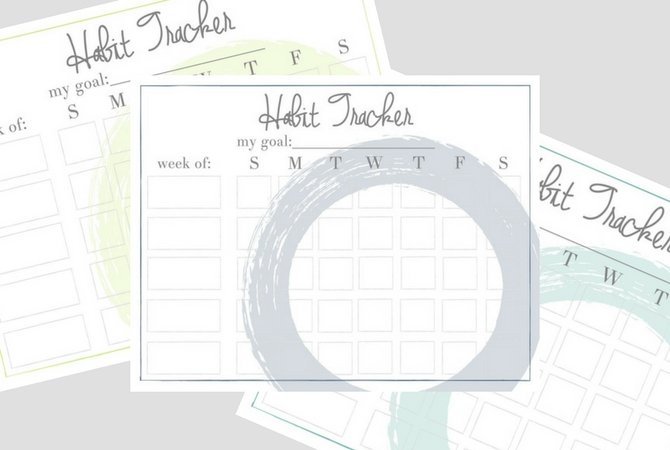 Habit Tracker Printables