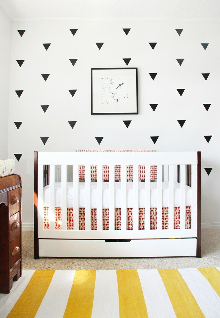 Modern Nursery with Wall Decals