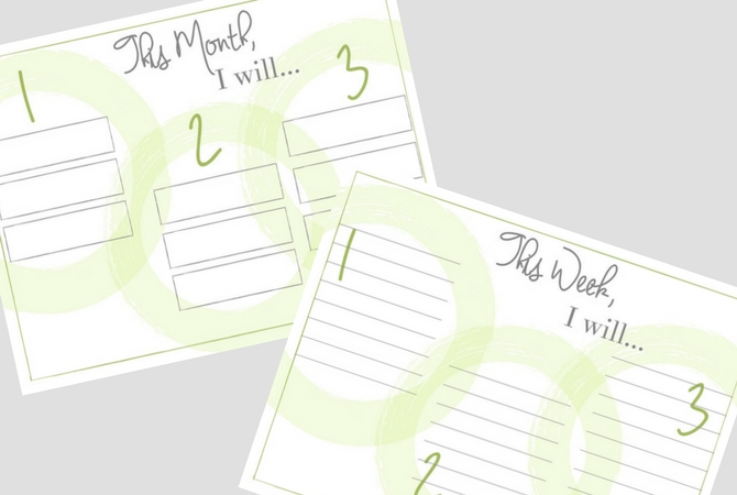 Monthly and Weekly Goal Printable Trackers