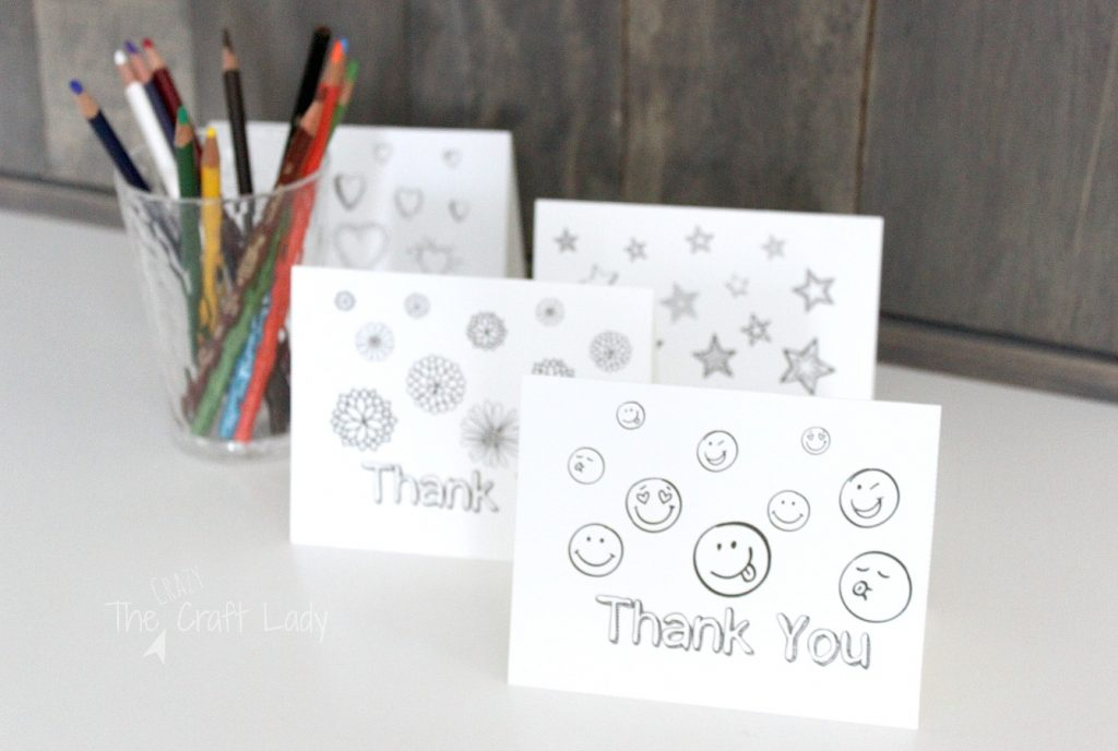 graphic relating to Free Printable Thank You referred to as Printable Thank By yourself Card Coloring Sheets - The Mad Craft Girl