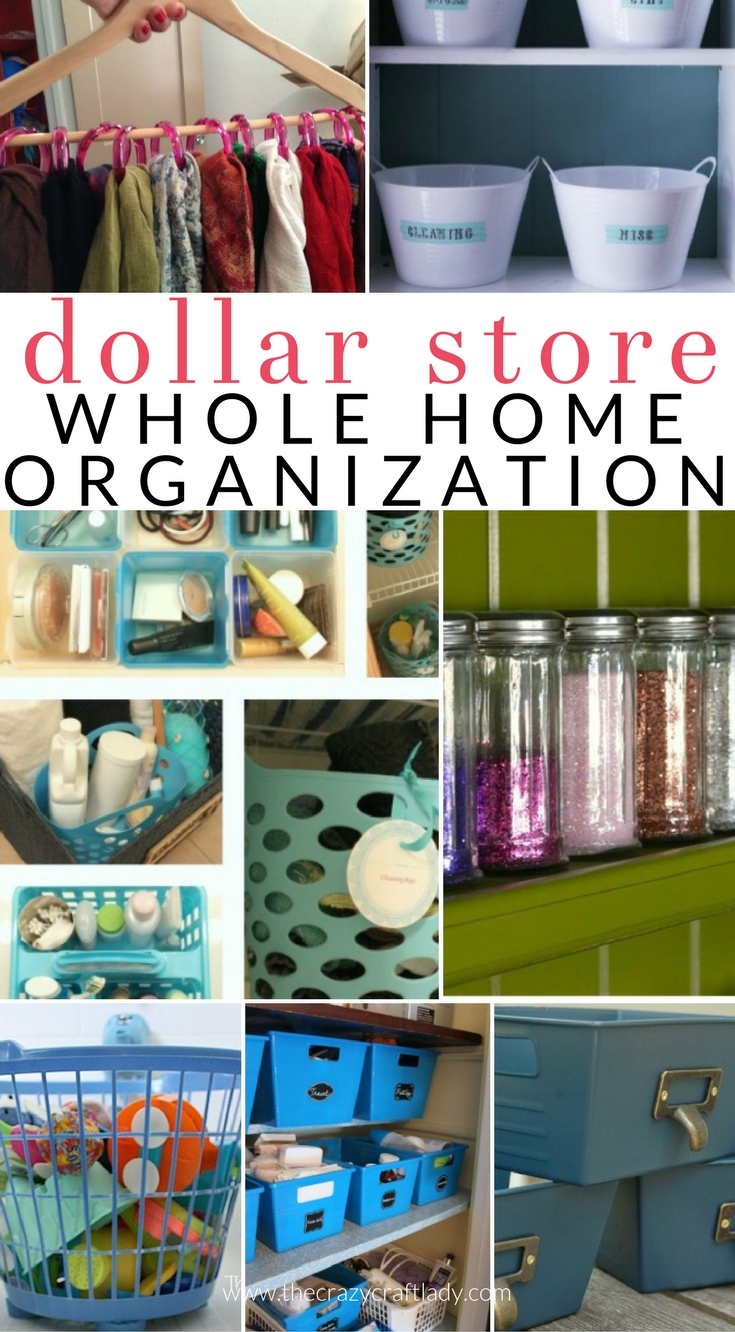 dollar store organizing - organize your entire house with dollar