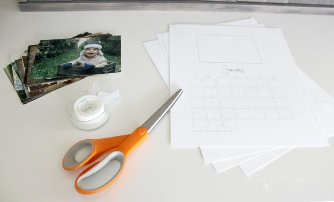 How to make a custom photo calendar - a free printable 2017 calendar