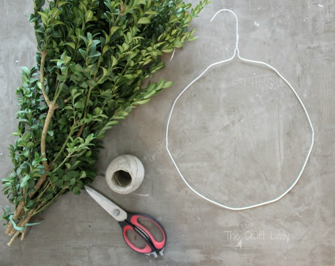 how to make a wreath with a wire hanger