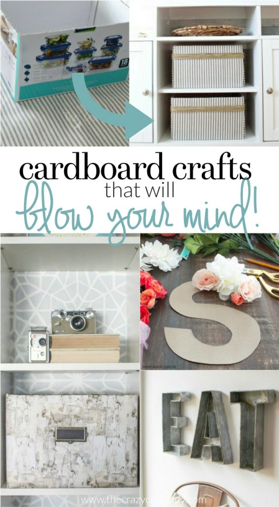 Go green and save money with these cardboard crafts. Make an upcycle project with basic supplies you already have... like cardboard!