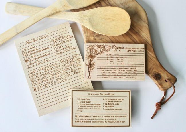 Custom Wood Recipe Card