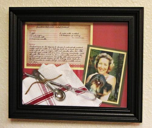DIY Framed Family Recipes