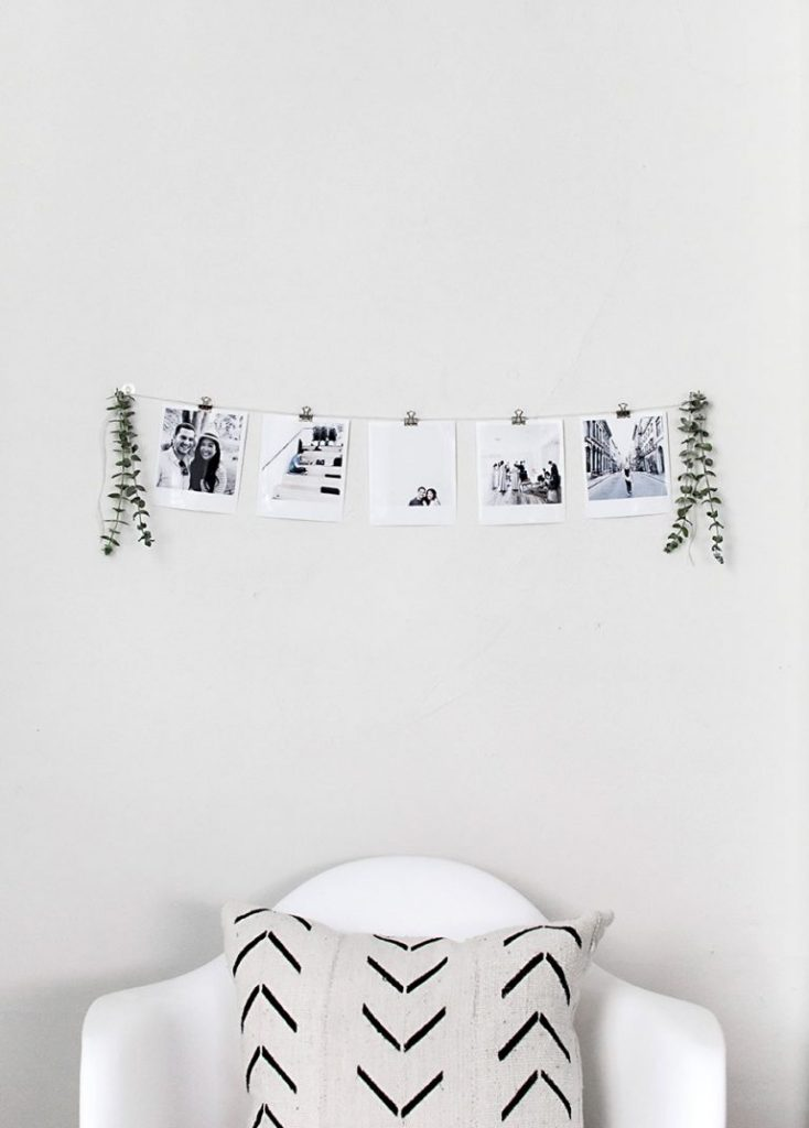 DIY Instant Film Style Photo Garland