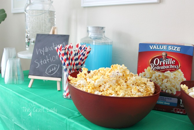 Football Party and Popcorn Bar