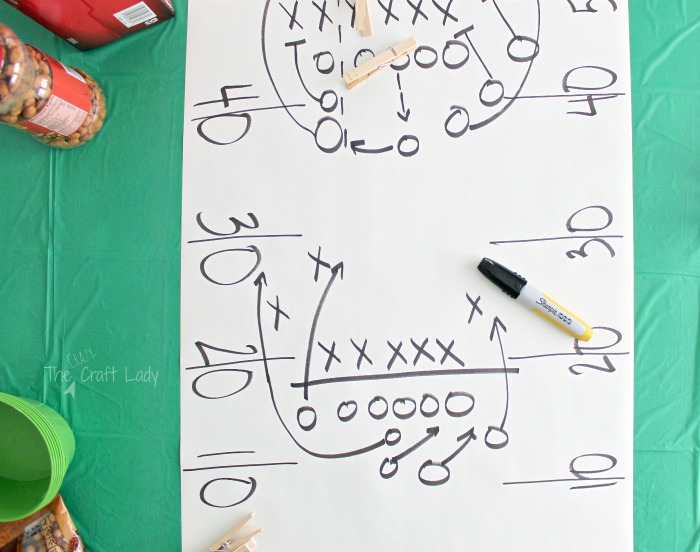 DIY football table cloth