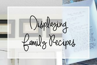 Display Family Recipe Cards