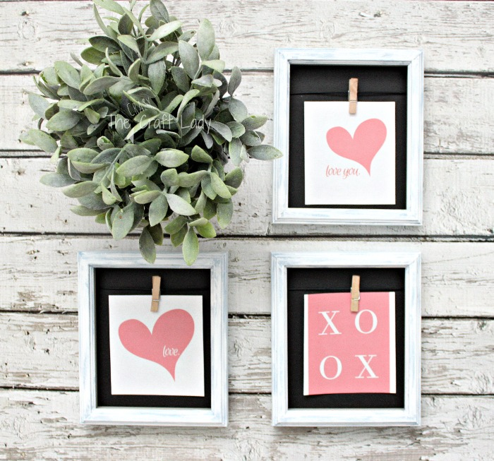 Dollar Store Picture Frames and Free Valentine Printables - How to Update Cheap Picture Frames with paint