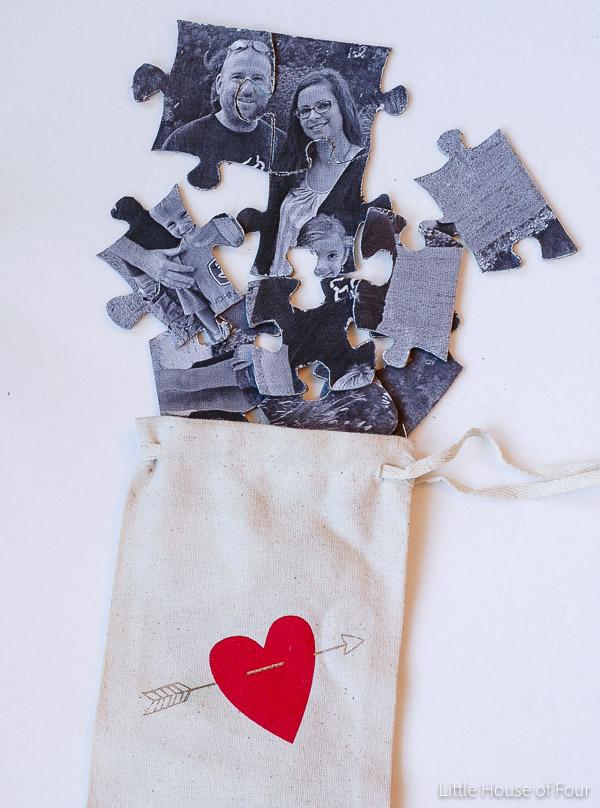 Dollar Store Valentine Puzzle