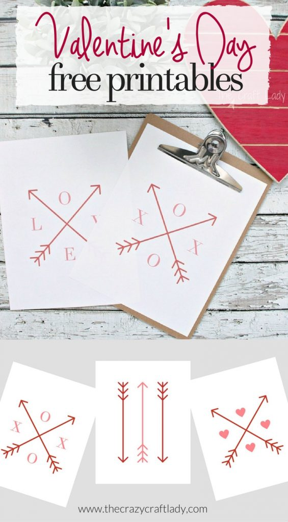 Download these FREE Valentine Arrow Printables to use in your seasonal gallery walls and Valentine's Day craft projects.