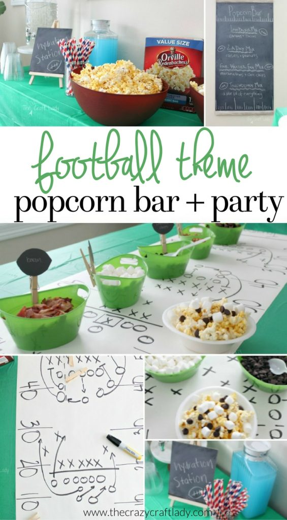 Football Theme Popcorn Bar and Party