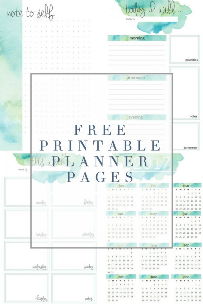 graphic regarding Free Printable Planners named Planner Printables - The Nuts Craft Girl