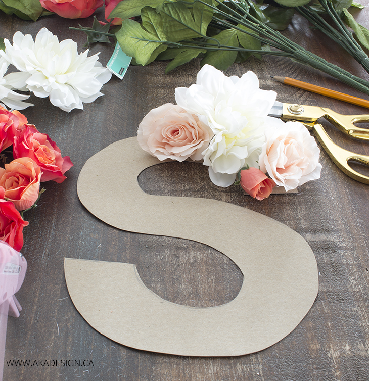 how to make a faux flowers monogram