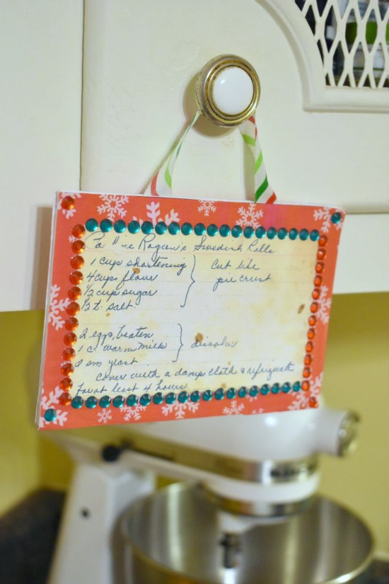 Make an Heirloom Recipe Card Christmas Ornament
