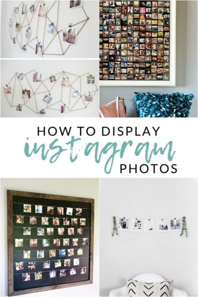 The Best Instagram Wall Displays: Make one of these DIY Instagram Wall Displays and get some of those photos out of your phone and into your home!