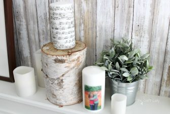 DIY Image Transfer Candles