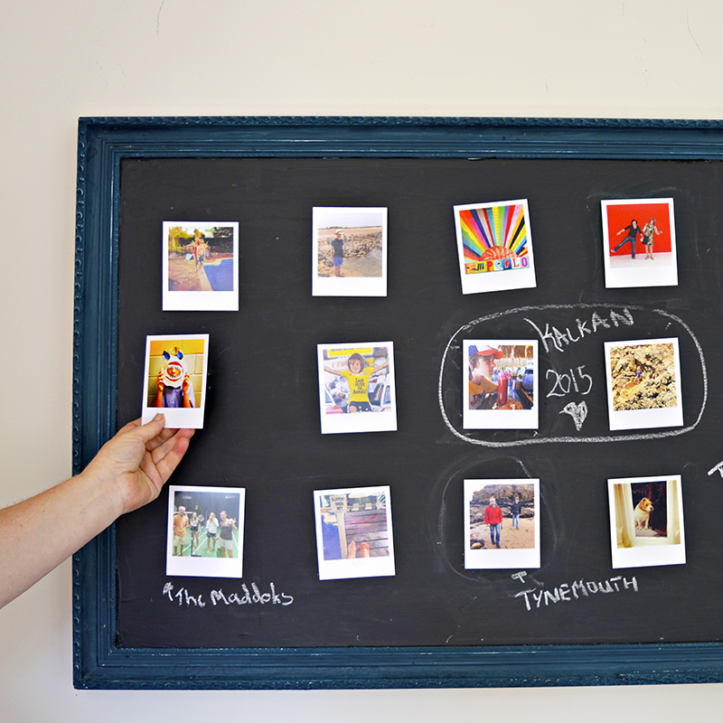 Velcro Chalkboard Photo Frame Wall Display