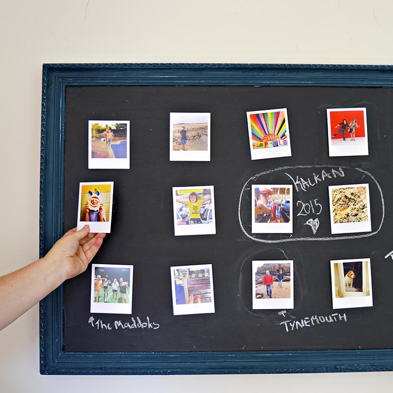 Velcro Chalkboard Photo Frame Wall Display