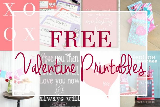 Tons of FREE Valentine Printables