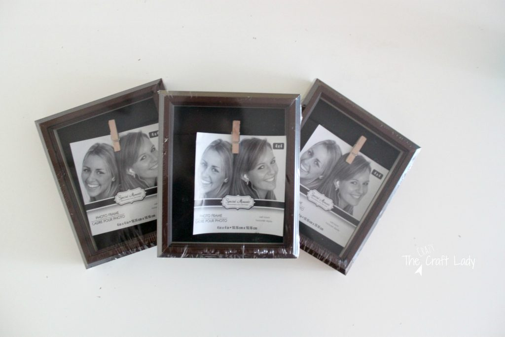 Updating Cheap Picture Frames - The Crazy Craft Lady