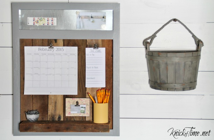 Salvaged Wood Organization Station