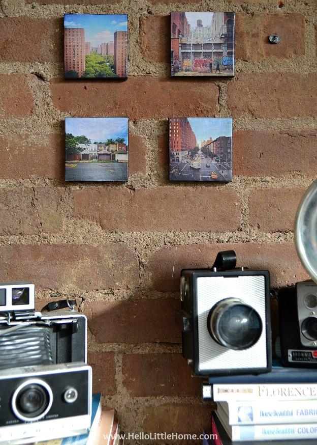 DIY Canvas Mounted Instagram Photos