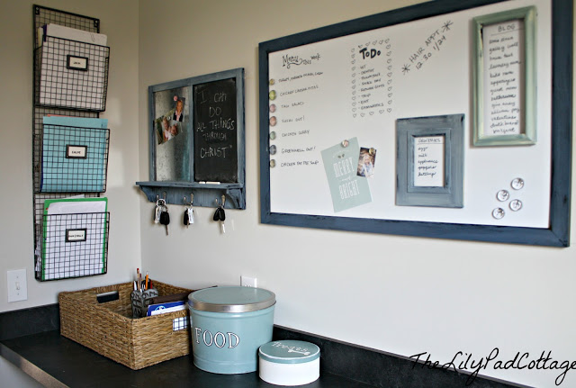 laundry room family command center