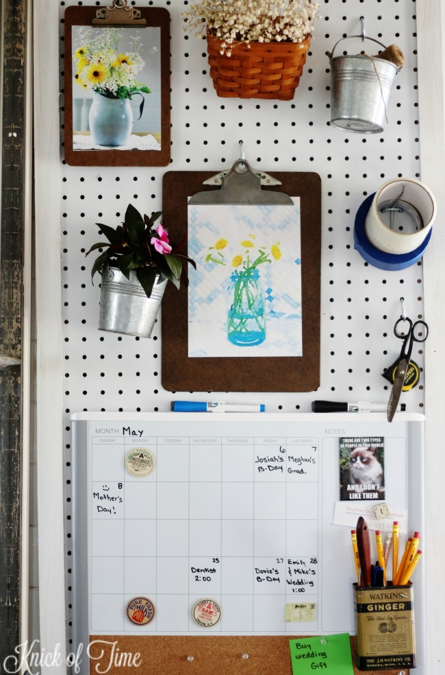 Pegboard Kitchen Organization Station